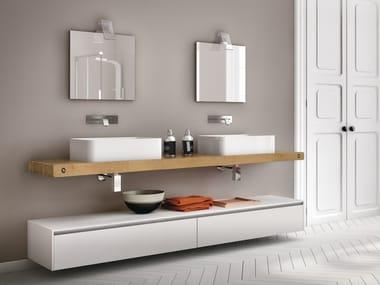 Piano lavabo / mobile bagno in legno CHANGE 215