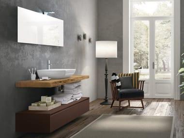 Piano lavabo / mobile bagno in legno CHANGE 216