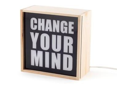 LED Tischleuchte aus Holz CHANGE YOUR MIND