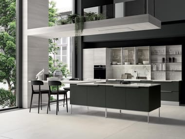 Fitted kitchen with island CHANTAL 02