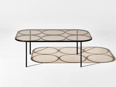 Rectangular glass coffee table CHAPEL | Glass coffee table