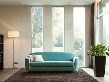 Upholstered fabric sofa bed with removable cover CHARLES