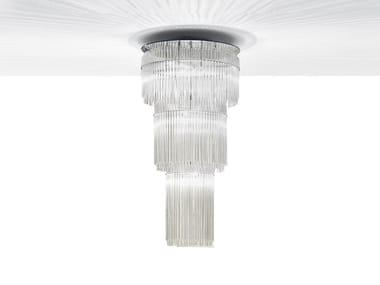 Lampada a sospensione a LED in vetro di Murano GRAN CHARLESTON | Lampada a sospensione