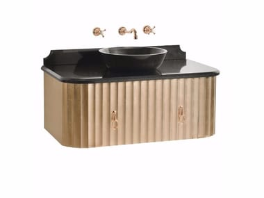Single wall-mounted vanity unit with doors CHARLOTTE | Wall-mounted vanity unit