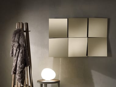 Square wall-mounted mirror CHARME
