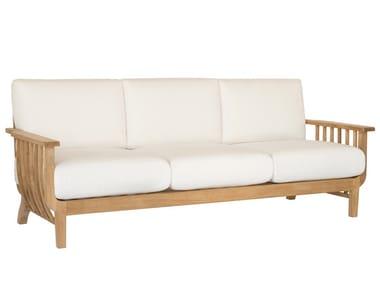 Sofá de jardín de teca CHELSEA | Sofá de jardín 3 plazas