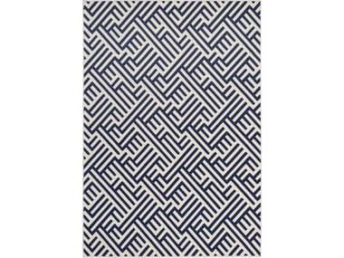 Tappeto rettangolare in poliestere a motivi geometrici per esterni CHESS 42104
