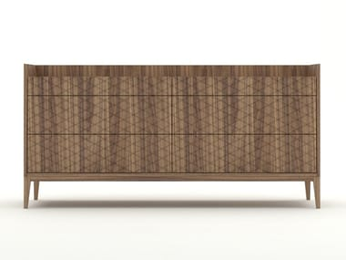 Walnut chest of drawers TRAME | Chest of drawers
