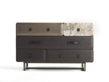 Wooden chest of drawers FIVE POINTS | Chest of drawers