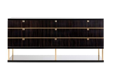 Lacquered wood veneer chest of drawers MANHATTAN | Chest of drawers