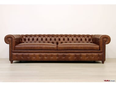 Tufted leather sofa CHESTERONE