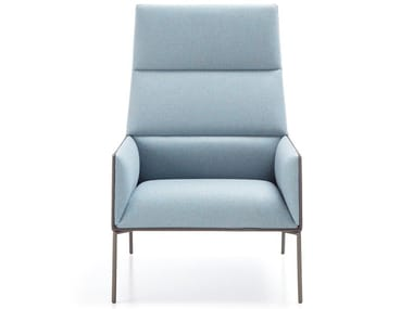 Upholstered fabric armchair with armrests CHIC AIR A10H
