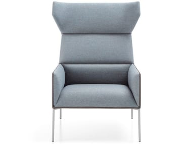 Upholstered fabric armchair with armrests CHIC AIR A11H
