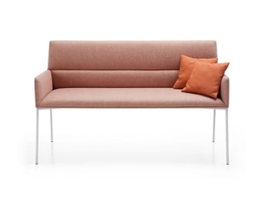 Upholstered fabric bench with back CHIC AIR B20H