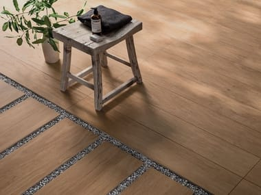 Porcelain stoneware outdoor floor tiles with wood effect CHIC WOOD 20MM | Outdoor floor tiles