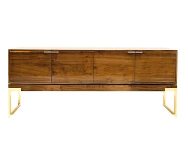 Wooden sideboard with doors CHICAGO