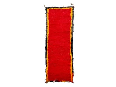 Long pile rectangular wool rug CHICHAOUA TAA180BE