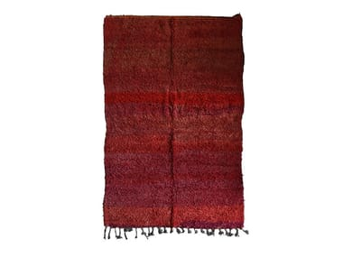 Long pile rectangular wool rug CHICHAOUA TAA901BE