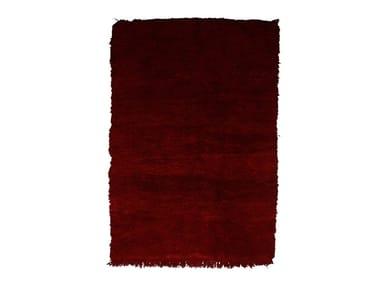 Long pile rectangular wool rug CHICHAOUA TAA944BE