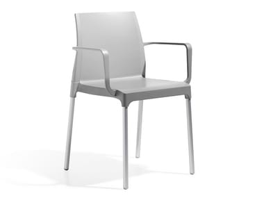 Technopolymer chair with armrests CHLOÉ MON AMOUR | Chair with armrests