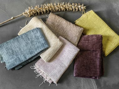 Solid-color chenille fabric CHOUCHOU
