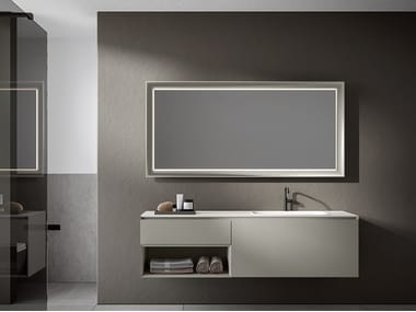 Lacquered wall-mounted vanity unit CHR 006