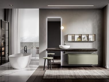 Single washbasin countertop CHR 007