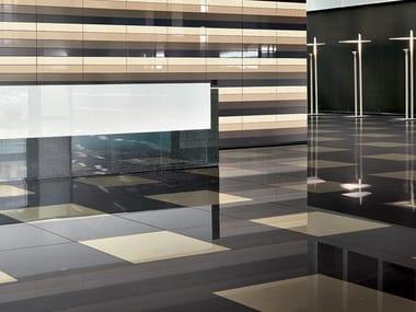 Frost proof indoor/outdoor porcelain stoneware wall/floor tiles CHROMOCODE3D IVORY BLACK