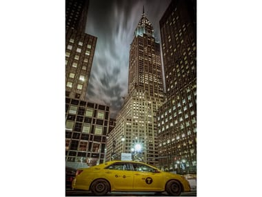 Stampa fotografica CHRYSLER BUILDING AND YELLOW CAB
