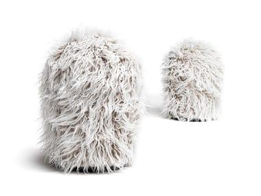 Pouf rotondo in pelliccia sintetica CHUMMY FRIZZY | Pouf