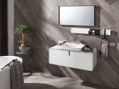 Sectional lacquered vanity unit CICLO
