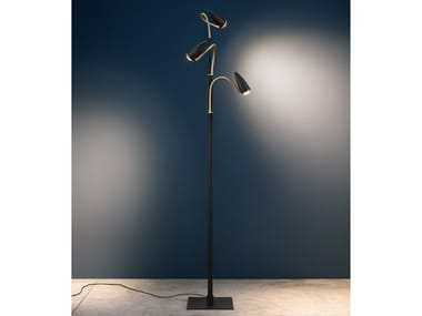 LED floor lamp with swing arm CICLOITALIA FLEX F3