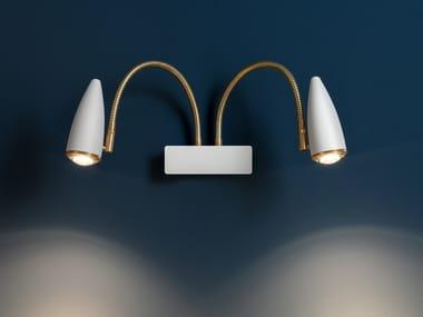 LED adjustable wall lamp CICLOITALIA FLEX W2