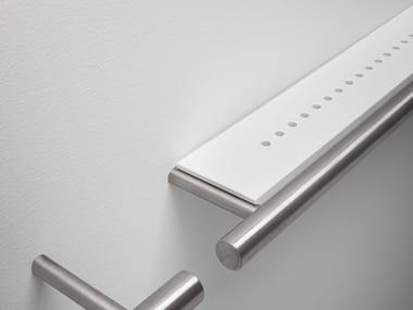Porta asciugamani / mensola in acciaio inox e Cristalplant CILINDRO | Porta asciugamani