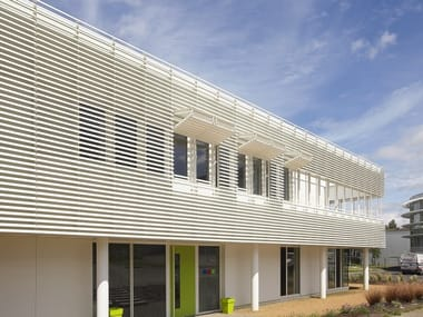 Up-and-over aluminium solar shading CILIUM