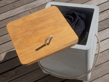 Container stool in cement CEMENTO | Stool