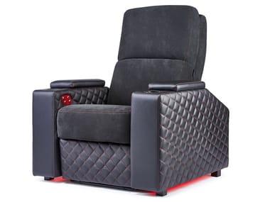 Microfiber Cinema armchair with motorised functions VENICE | Cinema armchair