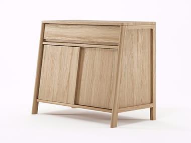 Madia in legno con ante a battente e cassetti CIRCA17   Madia