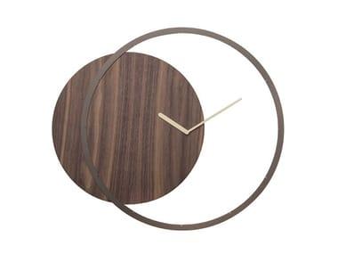 Wall-mounted wooden clock CIRCLE