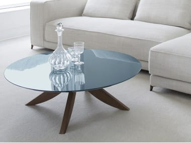 Round MDF coffee table for living room CIRCUS | Coffee table for living room