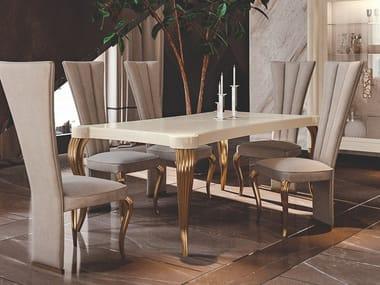 Tavolo rettangolare in legno CITRINO