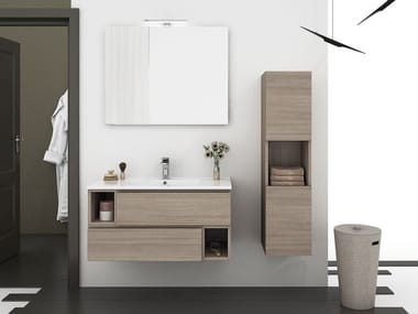 Wall Mounted Vanity Unit With Drawers CITY 01. LEGNOBAGNO Great Ideas