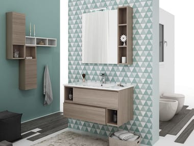 Wall Mounted Vanity Unit With Drawers CITY 03. LEGNOBAGNO