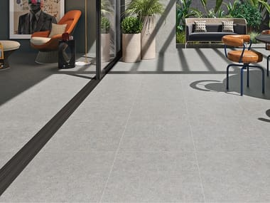 Indoor/outdoor wall/floor tiles with concrete effect CITYZEN
