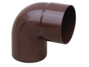 Curva in PVC per tubo pluviale CL87080M