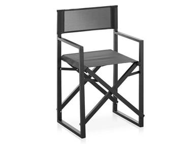 Chaise pliante en aluminium thermolaqué et Batyline® CLACK!