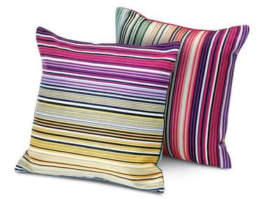 Cushion in jacquard fabric CLAREMONT | Square cushion