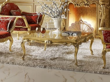 Square gold leaf coffee table OPERA | Coffee table