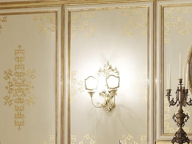 Gold leaf wall lamp with fixed arm OPERA | Wall lamp