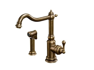 Kitchen faucet with sprayer (Aged brass) CLASSIK | Kitchen faucet with sprayer